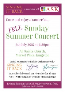 Singing it Back & ASK Sunday Summer Concert